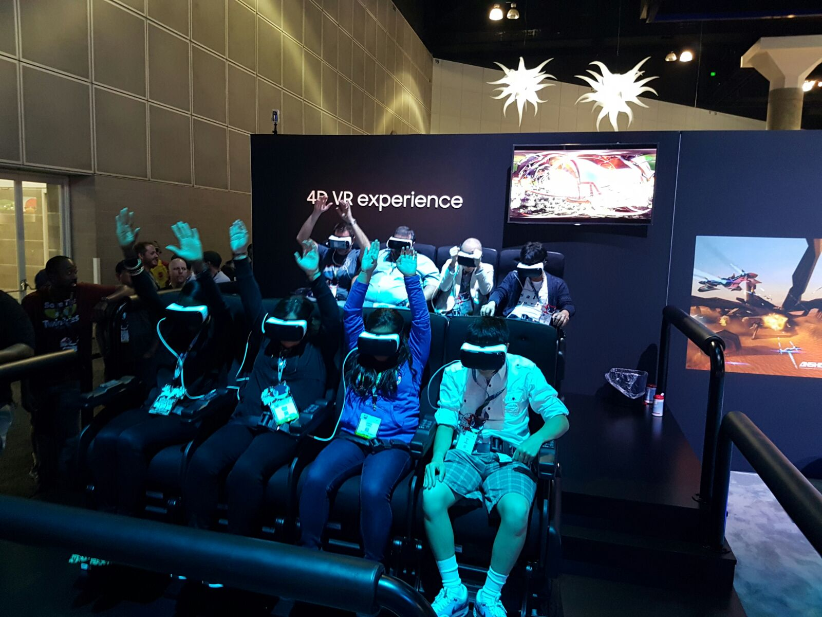 Jason enjoying the VR rollercoaster at E3 2016