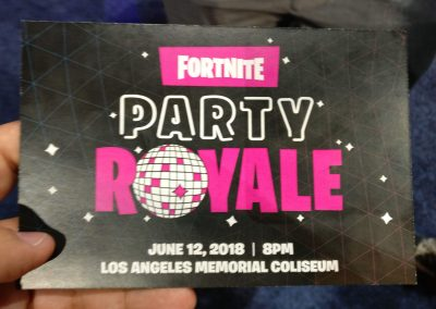 Ticket to a Fortnite's secret party