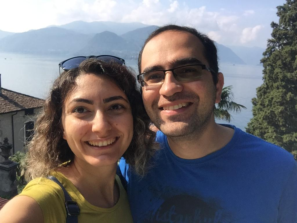 A picture Payam and Ezgi in Como, Italy