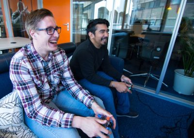 Our colleagues playing some games!